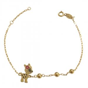 pulseira-infantil-em-ouro-18k-bambi-resina