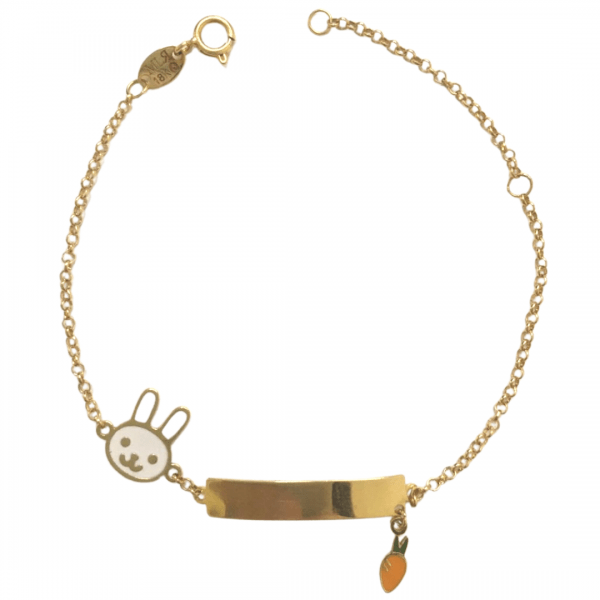 pulseira-infantil-em-ouro-18k-com-chapa-e-coelho