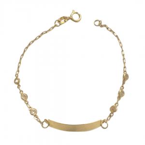 pulseira-infantil-ouro-18k-com-zirconias-e-chapa