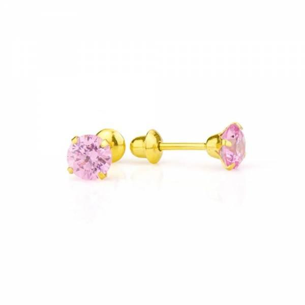 brinco-ouro-18k-zirconia-rosa-4mm