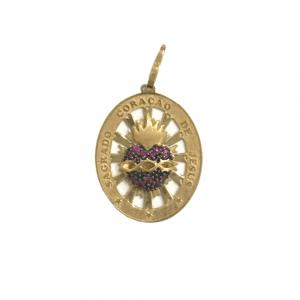pingente-medalha-sagrado-coração-em-ouro-18k