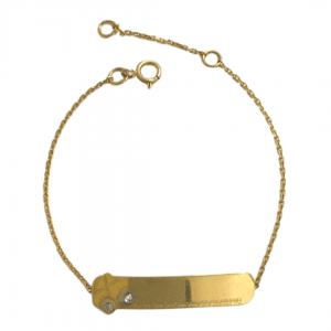 pulseira-infantil-em-ouro18k-chapinha-com-carrinho