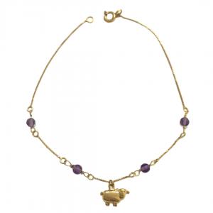 pulseira-veneziana-em-ouro-18k-com-pingente-ovelha-e-ametistas